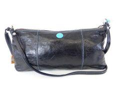 GABS LEDER POCHETTE SCHULTER TASCHE BAGUETTE BAG schwarz - LUXUS PUR! /NZ457 bei Secondherzog