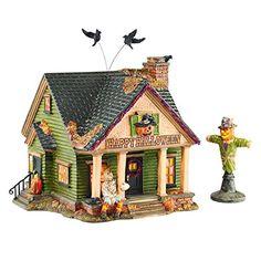 Department 56 Halloween Village The Scarecrow House Light Up Figurine Set of 2. #Halloween #Figures #Sculptures #Figurines #Fantasy #gosstudio #Gift .★ We recommend Gift Shop: http://www.zazzle.com/vintagestylestudio ★