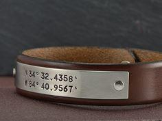 Coordinate+Bracelet++Latitude+Longitude+Bracelet+by+MavenMetalsInc,+$42.00