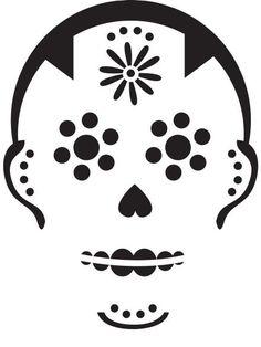 Sugar skull pumpkin carving stencil free pdf pattern to for Spooky owl pumpkin stencil