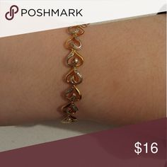 Beautiful ladies bracelet Gold plated with CZ's sparkles when it catches the light. Worn once. Gold Ring Designs, Gold Bangles Design, Gold Bracelet For Girl, Ladies Bracelet, Jewelry Design Earrings, Gold Jewellery, Bracelet Crafts, Jewelry Bracelets, Silver Bracelets For Women