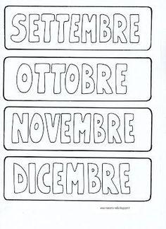 Il calendario 1st Day Of School, Middle School, Craft Activities, Italian Language, Classroom, Teaching, Education, Math Equations, Blog