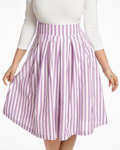 f09c72eac1 Daniella Lilac Striped Swing Skirt | Vintage Skirts | Lindy Bop Pencil  Skirts, Vintage Skirt