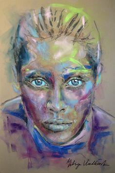 """Saatchi Online Artist: Yuliya Vladkovska; Acrylic 2013 Painting """"no drama"""""""