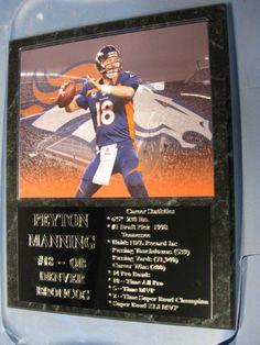 Peyton Manning Denver Broncos statistics plaque - New Lower Pricing!!