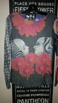 Desigual RARE Unique Design Cirque De Solei Design Top/Shirt/Blouse Medium M #Desigual #Blouse #Casual