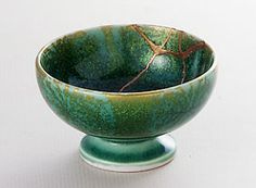 Kintsugi Repair Ceramic bowl - Not one of my ten since I can't do the gold. But it's Pretty