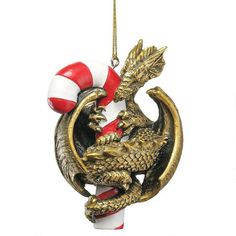 Design Toscano Dragon with a Sweet Tooth Holiday Ornament - CL5801