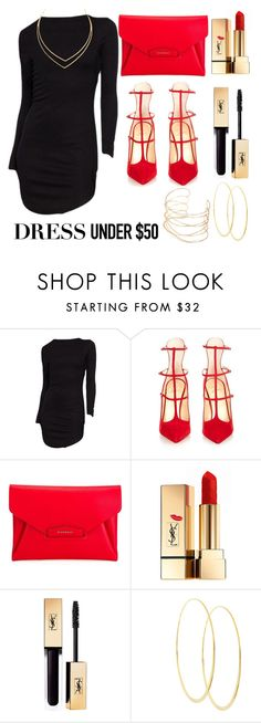 """Dress under $50 #3"" by annareeree-1 ❤ liked on Polyvore featuring Christian Louboutin, Givenchy, Yves Saint Laurent, Lana and Dressunder50"