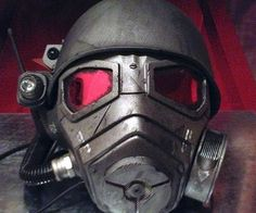 Prolong your survival in the wretched post apocalyptic wastelands by equipping yourself with this Fallout gas mask. This two piece fiber glass and resin mask features intricate detailing such as gas canisters and integrated light pods.