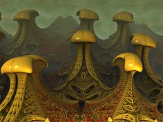 Mushroom Valley by *AureliusCat on deviantART