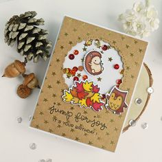 Fall Birthday Shaker Card | by ilovestamping