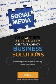 Management & Marketing pe Retelele de Socializare Experții noștri în rețele de socializare oferă un sprijin inegalabil pentru întreprinderile care doresc să-și construiască strategia de social media, să își gestioneze canalele sociale, să lanseze strategii de amplificare plătite sau să-și antreneze echipa în utilizarea acestor instrumente puternice.  Fie că doriți să vă lansați recent pe rețelele de socializare sau să vă îmbunătățiți prezența existentă, echipa noastră vă poate oferi ajutor. Web Design, Social Media, Marketing, Business, Creative, Blog, Travel, Alternative, Voyage