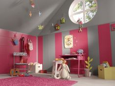 Chambre rose enfant
