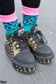 Studded Yosuke Platform Shoes