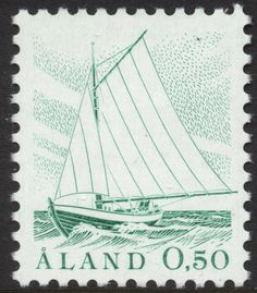 "Åland 50p 1984 ""Sailing Boat"" [Facit 2, Mi 2, AFA 2, SG 3, SC 3]"