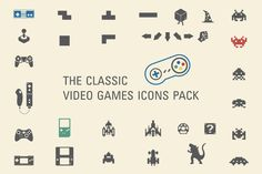 Check out The classic video games icons pack by InvCrea on Creative Market