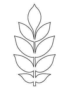 leaf template printable free printable stencils free stencils leaf outline flower outline