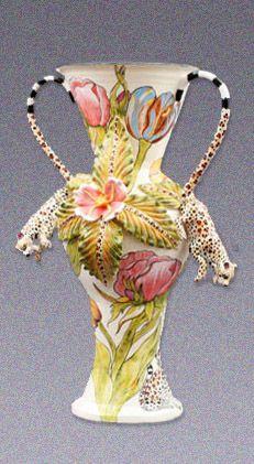 Leopard Vase   -Ardmore Ceramics
