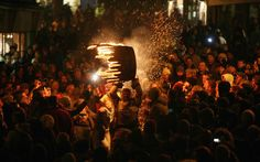 Some parts of Britain have their own traditions when it comes to Bonfire Night. Lewes, in East Sussex, is known for its Bonfire Societies whose members parade through the streets in costume with torches. In the small village of Ottery St Mary in Devon, residents run through the streets carrying burning barrels soaked in tar in an age-old tradition every November 5 (pictured).   Picture: Matt Cardy/Getty Images