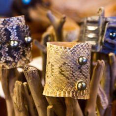 Snake skins and Tahitian Pearls handcrafted leatherwork by Jean Noel Mignot #wendypearls