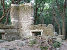 Stoney-Baynard Ruins in Hilton Head Island, SC. The remnants of a tabby plantation house, two slave cabins, and kitchen chimney constructed about 1790 are located in Baynard Park in Sea Pines Plantation, which costs $6 to enter. (Photo by Cheryl Warren) Kitchen Chimney, Oyster Shells, Plantation Homes, Hilton Head Island, Cheryl, South Carolina, Mount Rushmore, Wanderlust, Florida