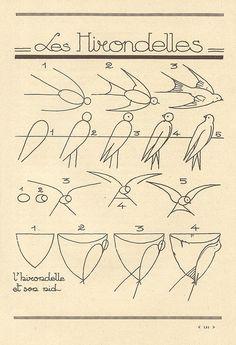 Design to draw - Draw Pattern - birds... Draw Pattern & inspiration  Preview – Pattern    Description  birds  – Source –