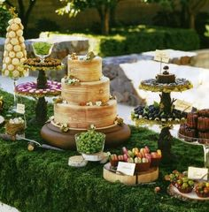 Country Woodlands / Enchanted Forest Wedding DESSERT TABLE BUFFETS