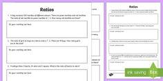 Ratios Activity Sheet - F - 3 New resources aligned to Aus Curriculum, mathematics, maths, ratios,Australia