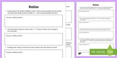 Ratios Activity Sheet - F - 3 New resources aligned to Aus Curriculum, mathematics, maths, ratios,Australia