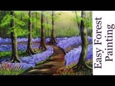 Acrylic Landscape Painting of a Tree Forest | Forest Tree Painting - YouTube