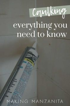 Do you need to buy caulking and apply it in your home, but you're totally confused? In this article, we're going back to the basics and sharing everything you need to know about caulking and giving you all of our favorite caulking tips & tricks. #caulking #renovation #caulk #DIY Small House Decorating, Decorating Tips, Painting Trim, Diy Painting, Caulking Tips, Moldings And Trim, Good Tutorials, Manzanita