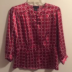 Red & White Blouse Black & White New Direction Dress - worn once Tops