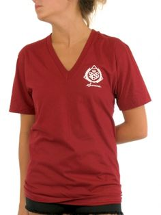Classic V-Neck T-Shirt for women by Success 50% Cotton 50% Polyester Model is wearing a size Medium
