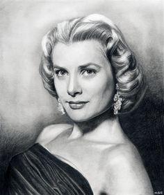 Grace Kelly by MLS-art on deviantART | First pinned to Celebrity Art board here... http://www.pinterest.com/fairbanksgrafix/celebrity-art/ #Drawing #Art #CelebrityArt