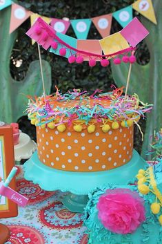 Cool cake decoration at a Cinco de Mayo party! See more party planning ideas at CatchMyParty.com!