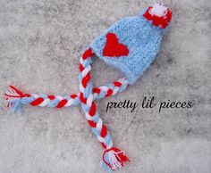 READY TO SHIP Valentines Hat for a newborn blue by prettylilpieces, $18.00 @Jessica Radick @prettylilpieces
