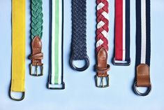 Summer belts.  Preppy.