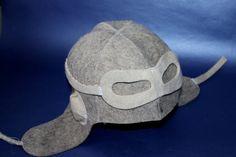 New  Wool Felt Hat Banya Sauna Pilot helmet chapeau by SaunaHat