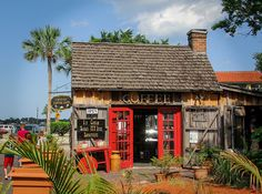 Crucial Coffee Cafe - down a quaint little cobblestone street in St. Augustine, Florida
