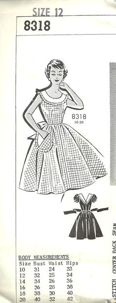 Vintage Fifties Mail Order Sewing Pattern 8318 by studioGpatterns, $8.50