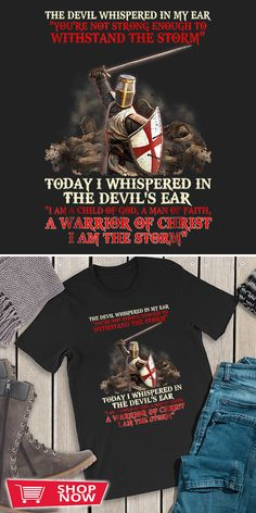 You can click the link to get yours. Knight Templar I Am A Child Of God A Warrior Of Christ. Knight Templar tshirt for Crusader and Knight Templar Lovers. We brings you the best Tshirts with satisfaction. Chivalry, Crusaders, Knights Templar, Inspirational Gifts, Special Gifts, Christ, Lovers, Fire, Gift Ideas