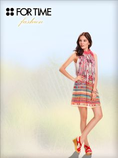 Vestido colorido Colección Primavera Verano FOR TIME Fashion