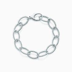 Tiffany Twist link bracelet in sterling silver.