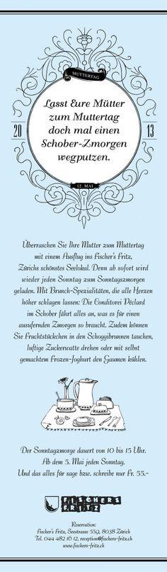 Das Fischer's Fritz ist ein gelungener Mix aus französischem Bistro und Sylter Strandbeiz. Strebel Juon kreiert Flyer und Newslettern für die verschiedensten Themenbereiche.