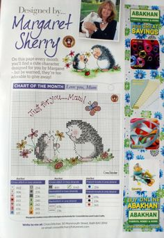 Personalized hedgehog bookmark Margaret Sherry 3/3