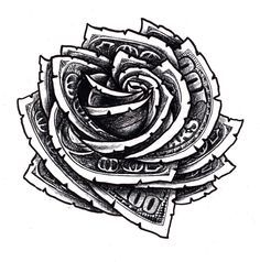 money rose tattoo - Google Search