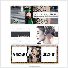 Image of Catwalk Facebook or Blog Banners | Set of 5