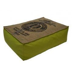 Coussin de sol en toile de jute et coton vert lilokawa sur http://www.cabaneindigo.com/poufs-et-tabourets/420-coussin-de-sol-toile-de-jute-coton-vert.html