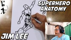 Jim Lee How to draw Superhero Anatomy and Dynamic Figures 15mins Video Tutorial Feet Drawing, Gesture Drawing, Dc Comics Art, Image Comics, Sketches Of People, Drawing People, Punisher War Journal, Drawing For Beginners, The Uncanny